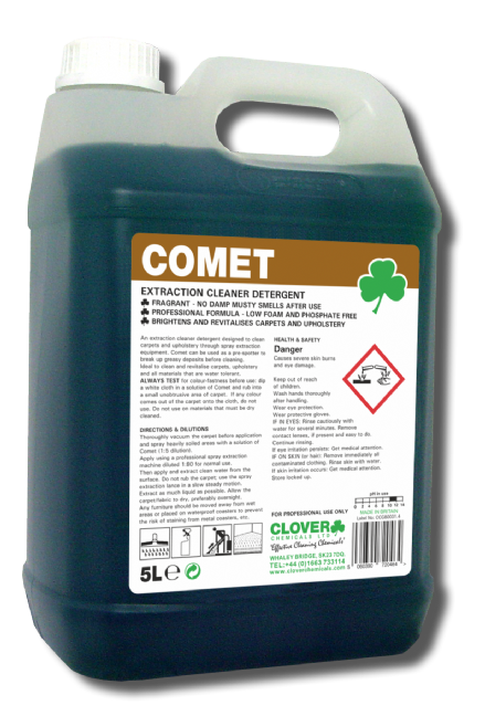 Clover Comet - Extraction Carpet Cleaner Detergent